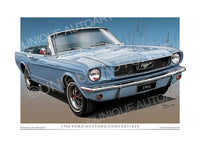 1966 Mustang Convertible- Silver Blue