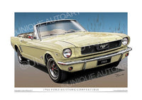 1966 Mustang Convertible- Springtime Yellow