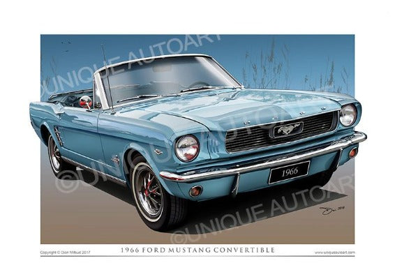 1966 Mustang Convertible- Tahoe Turquoise