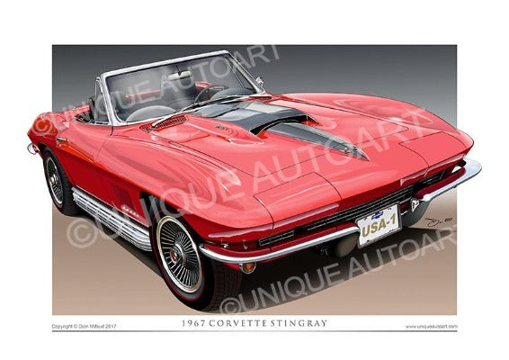 1967 Corvette- Rally Red