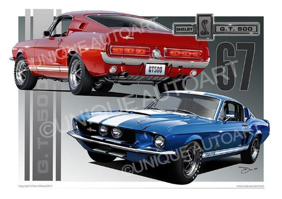 1967 Shelby Mustang- Art Designs