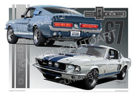 1967 Shelby Mustang- Artwork