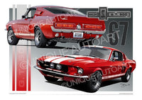 1967 Shelby Mustang - Car Prints