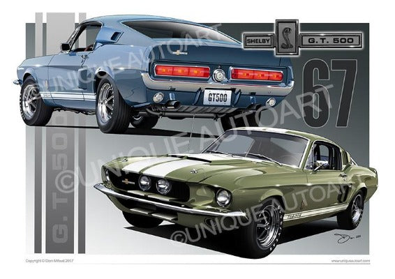 1967 Shelby Mustang- Car Prints