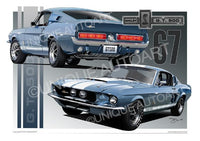 1967 Shelby Mustang- Automotive Art