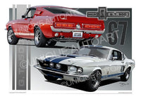 1967 Shelby Mustang- Poster Print