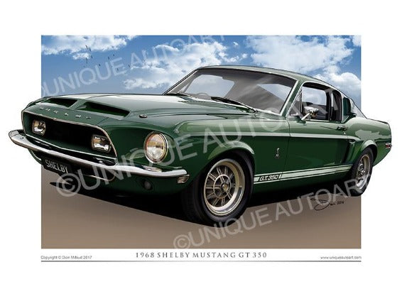 1968 Shelby- Dark Green Metallic