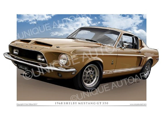 1968 Shelby- Gold Metallic