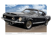 1968 Shelby Mustang - Raven Black