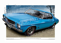 HQ MONARO COUPE- Brooklands Blue