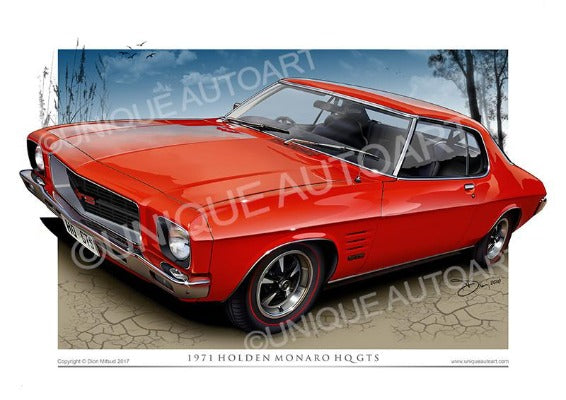 HQ MONARO COUPE- Salamanca Red