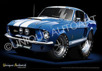 67 Shelby- Acapulco Blue