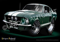 67 Shelby- Dark Moss Green