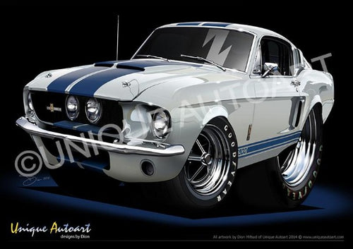 67 Shelby- Wimbledon White