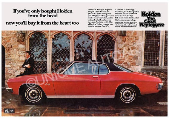 Holden HQ LS Monaro Advert
