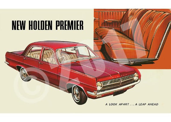 HOLDEN HD PREMIER COLOUR ADVERT CIRCA 1965 (Unframed)