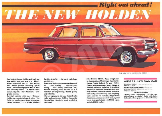 Holden EJ Car Advert