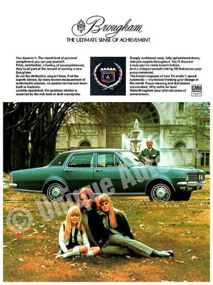 1971 Holden HG Brougham Advert -Restored