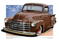 AUTUMN BROWN CHEVY PICKUP