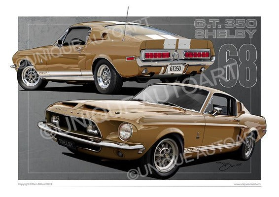 Gold Metallic Shelby