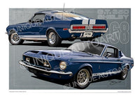 Shelby GT350 Dark Blue Metallic