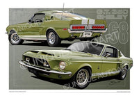 Lime Green Mustang Shelby