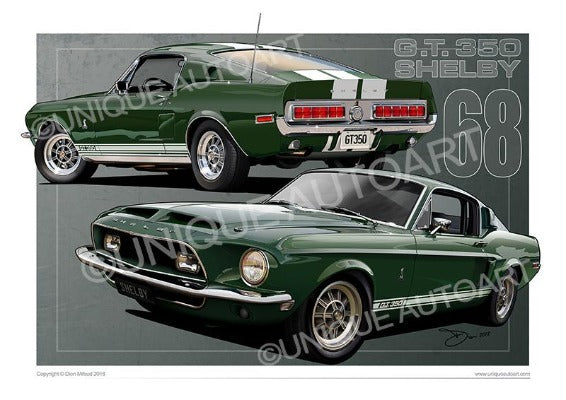1968 Shelby Dark Green Metallic