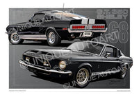 SHELBY - AMERICAN MUSCLE CAR PRINT