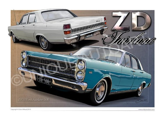ZD FAIRLANE - CAR PRINTS