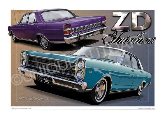 FORD FAIRLANE DRAWINGS