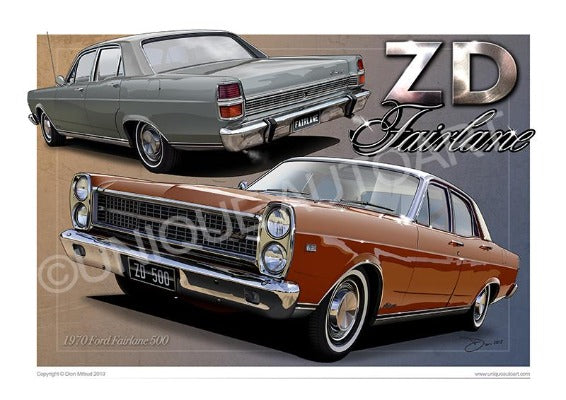 FAIRLANE CAR PRINTS