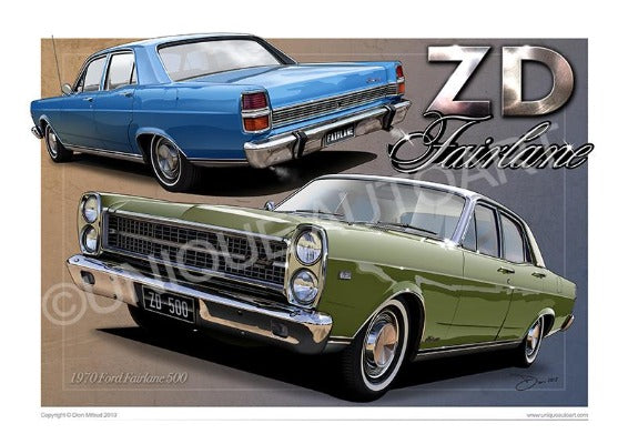 FORD CLASSIC FAIRLANE PRINTS