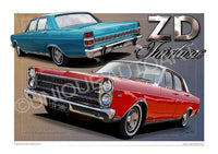 ZD FAIRLANE TRACK RED