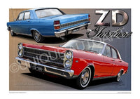 AUSTRALIAN CAR ART - FORD ZD FAIRLANE