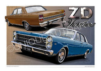 AUSSIE CAR ART - ZD FAIRLANE