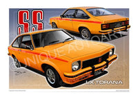 LX SS TORANA CAR DRAWING