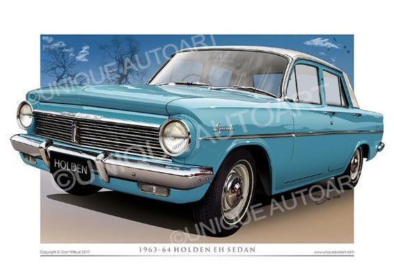 EH HOLDEN- PORTSEA BLUE