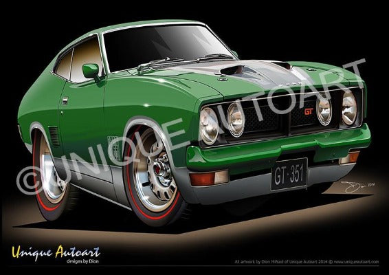 XB GT FALCON COUPE - Emerald Green