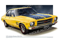 Holden HQ GTS MONARO - CHROME YELLOW