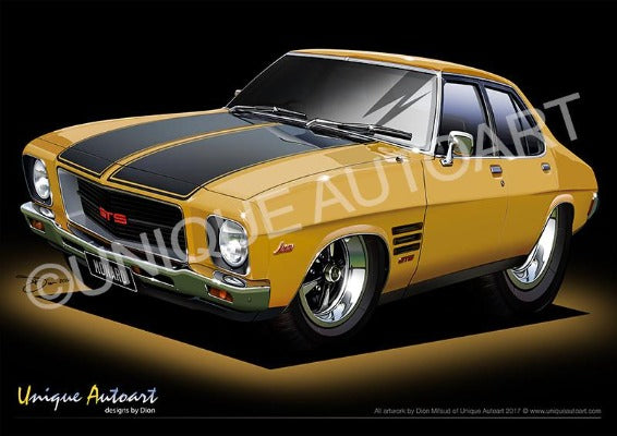 HQ Monaro- Autumn Gold
