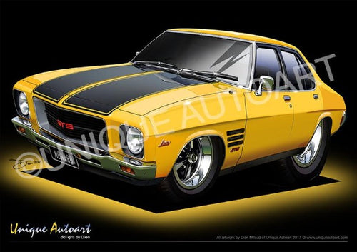 HQ Monaro - Chrome Yellow