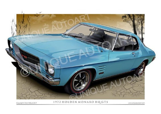 Holden HQ GTS Coupe- Frost Blue