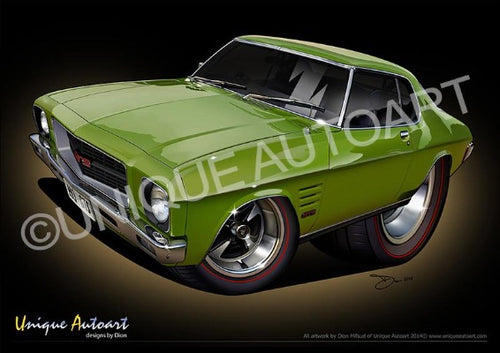 HQ Holden Monaro- Lime Green