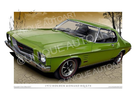 Holden HQ GTS Coupe- Lime Green