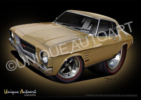 HQ HOLDEN MONARO- PATINA GOLD