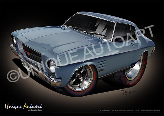 1972 HQ GTS COUPE CAR PRINTS (unframed)