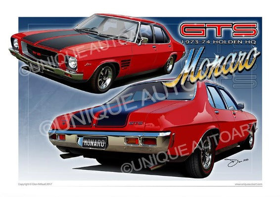 HQ GTS MONARO CAR DRAWING