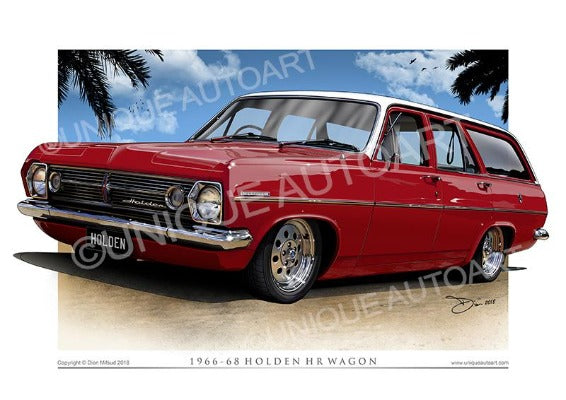 Sultan Red HR Holden Print