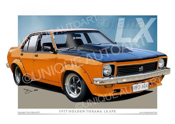 LX torana - Valencia Orange
