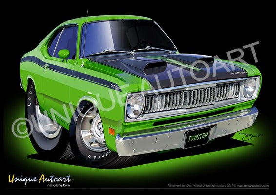 Plymouth Duster Cartoon Art